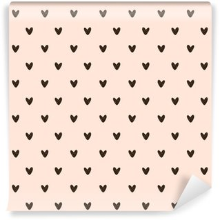 Vinyl Wallpaper seamless heart pattern