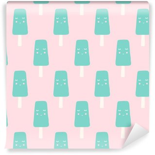 Pixerstick Wallpaper seamless ice cream pattern