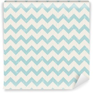 Vinyl Wallpaper seamless pastel blue chevron pattern