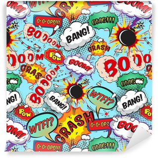 Pixerstick Wallpaper Seamless pattern comic speech bubbles