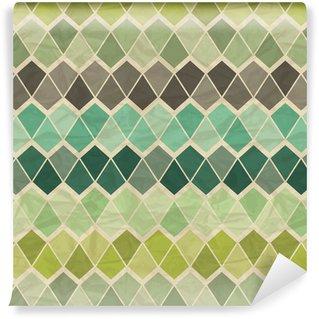 Pixerstick Wallpaper Seamless retro geometric pattern.