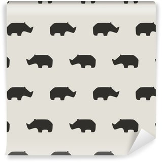Vinyl Wallpaper seamless rhino pattern