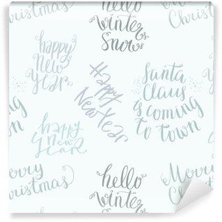 Seamless vector lettering pattern Vinyl Wallpaper