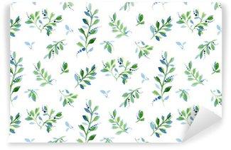 Seamless watercolor floral pattern Vinyl Wallpaper