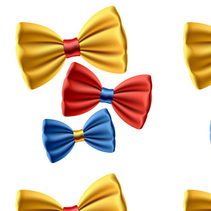 Vinyl Wallpaper Set of colored bow ties. Vector. - Fashion