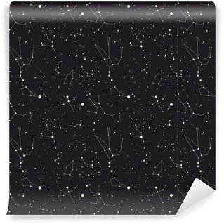 Star constellation vector Vinyl Wallpaper