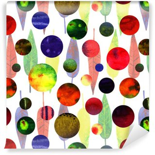 watercolor abstract circles Vinyl Wallpaper