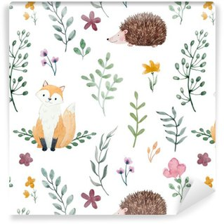 Pixerstick Wallpaper Watercolor pattern for children