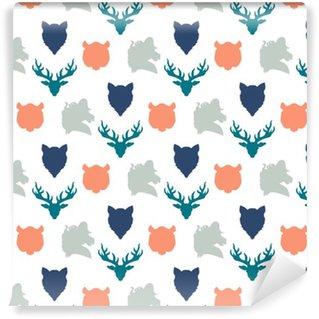 Wildlife seamless pattern Vinyl Wallpaper