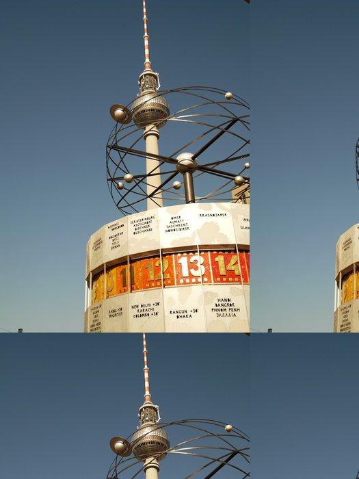 Vinyl Wallpaper World Clock - Weltuhr Berlin - Europe