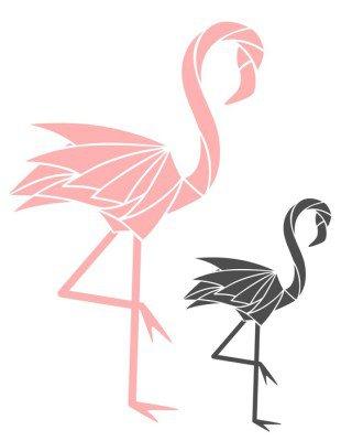 Wandtattoo Flamingo