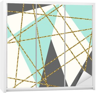 Abstract Geometric Composition Wardrobe Sticker