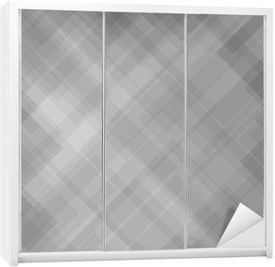 Abstract Grey Pattern Wardrobe Sticker