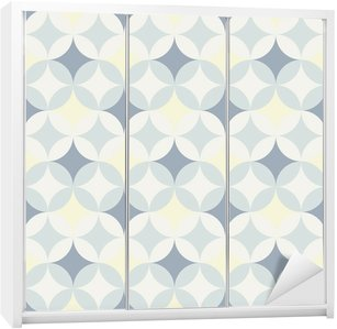 abstract retro geometric pattern Wardrobe Sticker