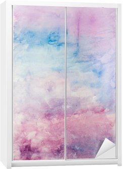 Wardrobe Sticker Abstract watercolor background