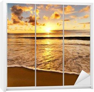 beautiful sunset on the beach Wardrobe Sticker