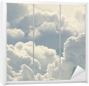 Wardrobe Sticker blue sky and beautiful clouds