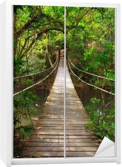 Bridge to the jungle,Khao Yai national park,Thailand Wardrobe Sticker