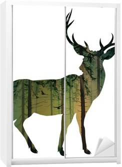 deer Wardrobe Sticker