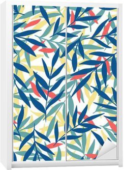 Exotic leaves, rainforest. Wardrobe Sticker