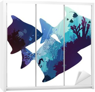 fish Wardrobe Sticker