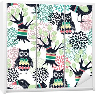 Forest seamless pattern Wardrobe Sticker