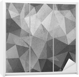 Grunge black&white polygonal vintage old background. Wardrobe Sticker