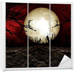 Wardrobe Sticker Halloween Festival Background