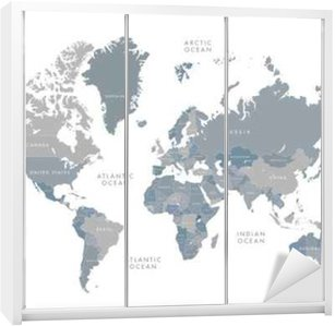 Highly detailed world map with labeling grayscale vector highly detailed world map with labeling grayscale vector illustration wardrobe sticker gumiabroncs Images