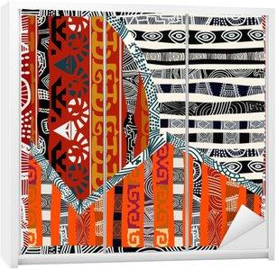 Wardrobe Sticker Indian tribal seamless pattern.Vector illustration
