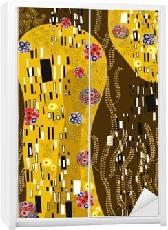 klimt inspired abstract art Wardrobe Sticker