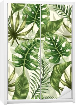 Leaves pattern Wardrobe Sticker