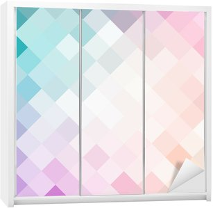 Wardrobe Sticker Mosaic colorful pattern