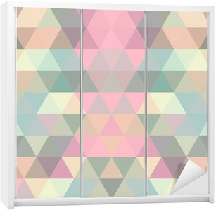 Mosaic triangle background. Geometric background Wardrobe Sticker