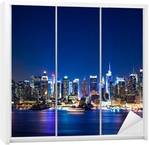 New York Manhattan skyline Wardrobe Sticker