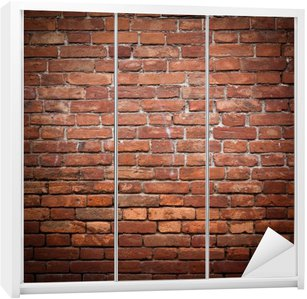 Old grunge red brick wall texture Wardrobe Sticker