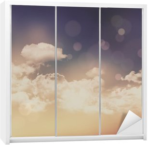 Retro clouds and sky background Wardrobe Sticker