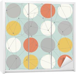 scandinavian geometric modern seamless pattern Wardrobe Sticker