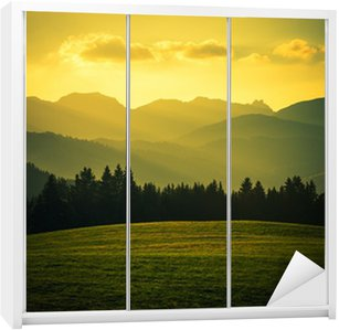 Scenic Mountain Landscape Wardrobe Sticker