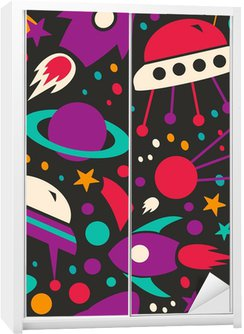 Wardrobe Sticker Seamless contrast cosmic pattern