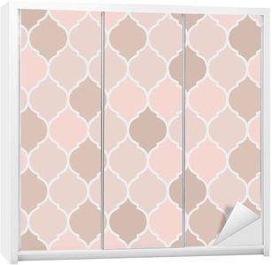 Wardrobe Sticker Seamless pattern pink tiles, vector