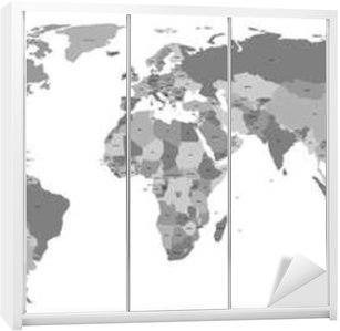 Vector world map with country labels wall decal pixers we vector world map with country labels wardrobe sticker gumiabroncs Images