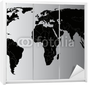 Vector world map wall mural pixers we live to change vector world map wardrobe sticker gumiabroncs Images