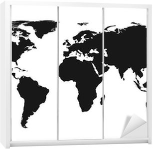 Vector world map sticker pixers we live to change vector world map wardrobe sticker gumiabroncs Images