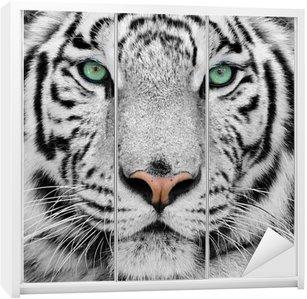 Wardrobe Sticker white tiger