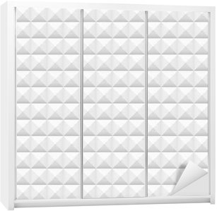 White tiles, squares, vector illustration, seamless pattern Wardrobe Sticker