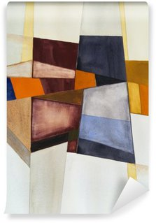a modernist abstract watercolor Washable Wall Mural