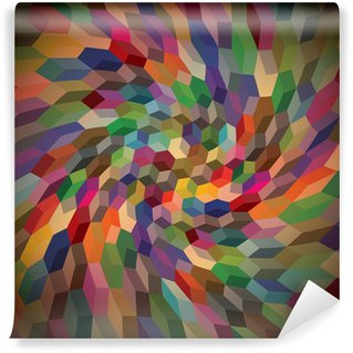 Washable Wall Mural Abstract background from curly cubes, illustration