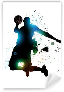 Abstract Basketball Player Washable Wall Mural