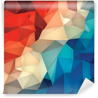 Abstract geometric low poly background. Washable Wall Mural